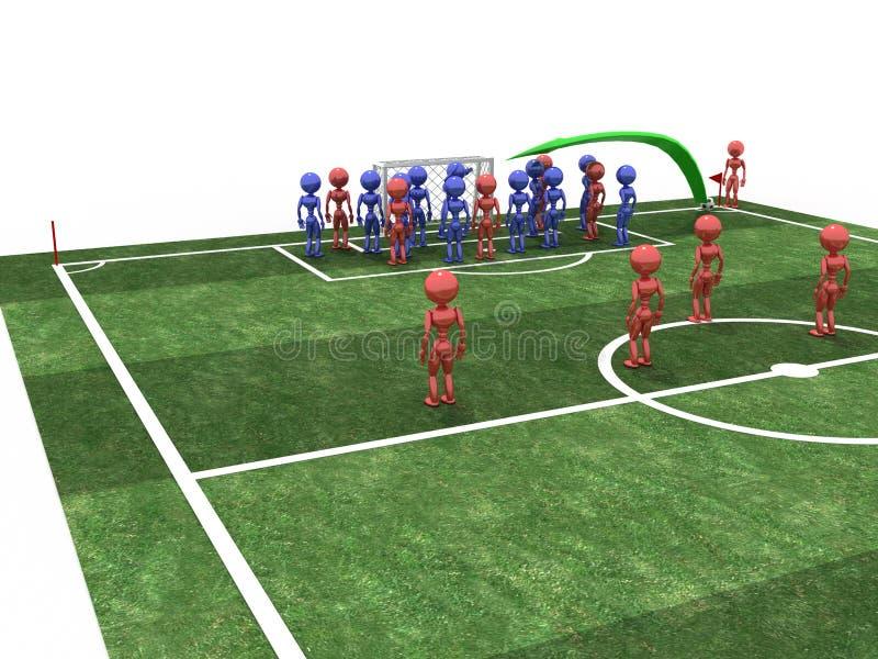 Ο ποδοσφαιριστής παίρνει τη γωνία #2 στοκ εικόνες με δικαίωμα ελεύθερης χρήσης