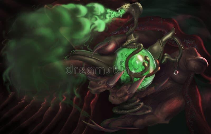 Ο πράσινος καπνός διανυσματική απεικόνιση