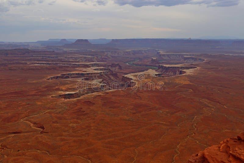 Ο πράσινος ποταμός αγνοεί, νησί στην περιοχή ουρανού, εθνικό πάρκο Canyonlands στοκ φωτογραφίες με δικαίωμα ελεύθερης χρήσης