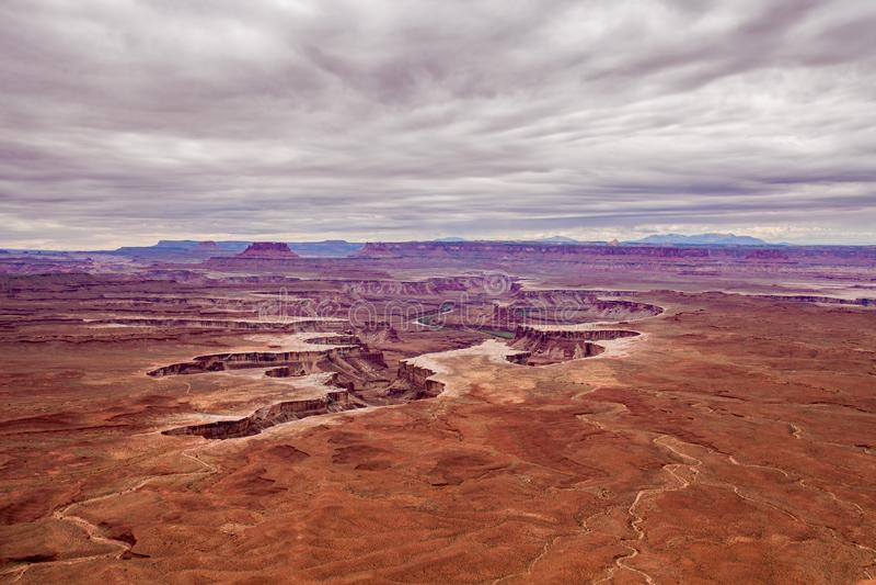 Ο πράσινος ποταμός αγνοεί σε Canyonlands το εθνικό πάρκο Γιούτα στοκ φωτογραφία με δικαίωμα ελεύθερης χρήσης