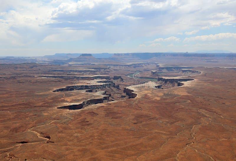 Ο πράσινος ποταμός αγνοεί σε Canyonlands το εθνικό πάρκο Utah στοκ φωτογραφία με δικαίωμα ελεύθερης χρήσης
