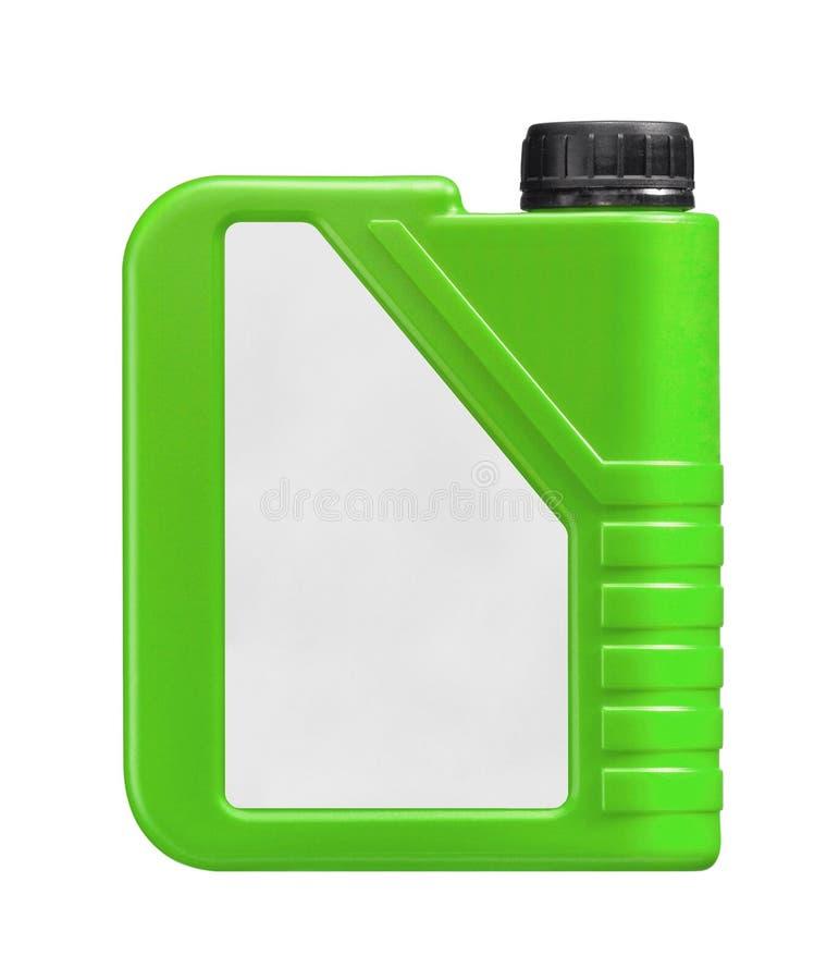 Ο πράσινος πλαστικός Jerry μπορεί απομονωμένος στοκ εικόνες με δικαίωμα ελεύθερης χρήσης