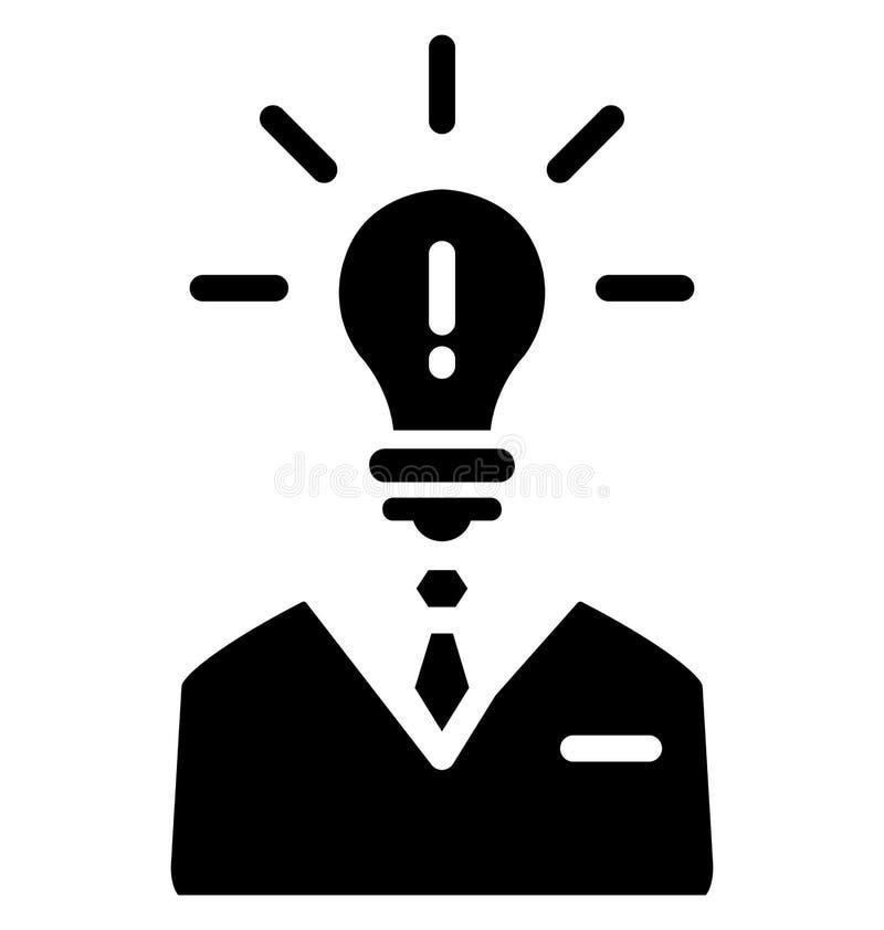 Ο προμηθευτής ιδέας απομόνωσε το διανυσματικό εικονίδιο που μπορεί να τροποποιηθεί εύκολα ή να εκδοθεί απεικόνιση αποθεμάτων