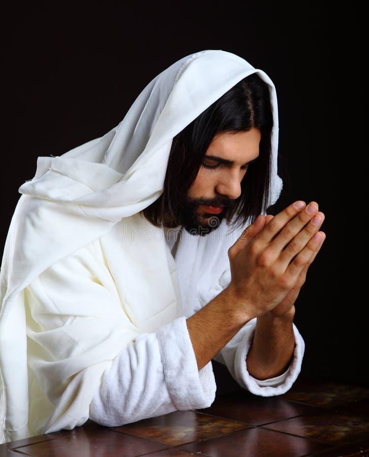 Ο προσευμένος Ιησούς Χριστός της Ναζαρέτ στοκ εικόνα