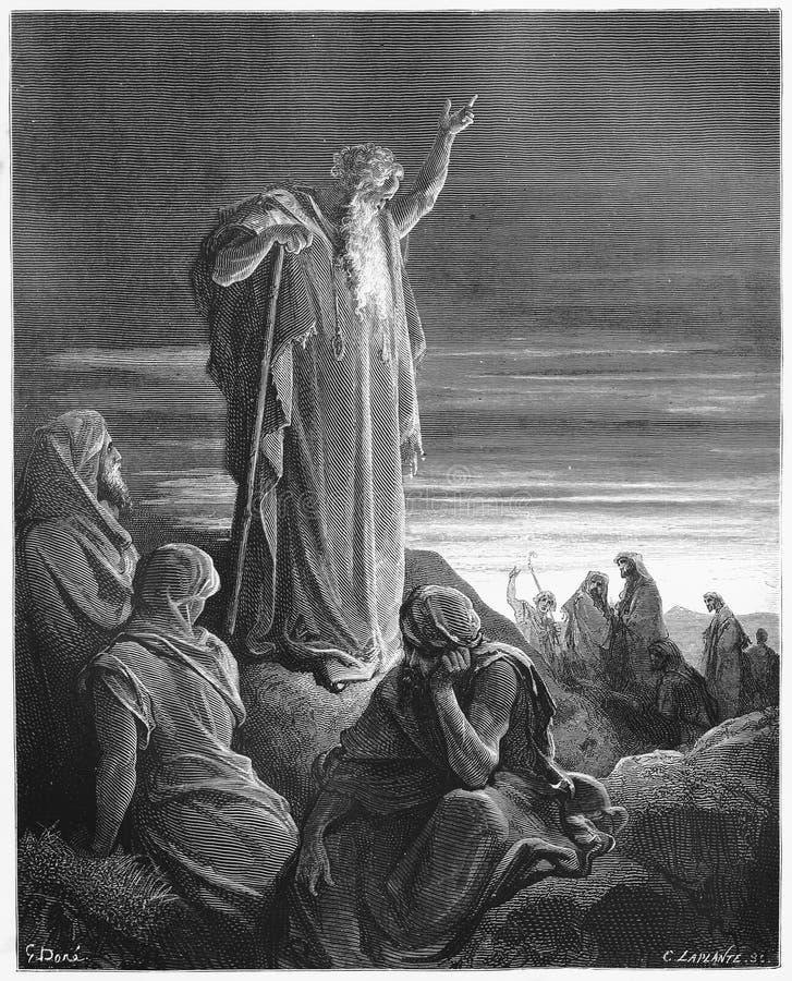 Ο προφήτης Ezekiel στοκ φωτογραφίες
