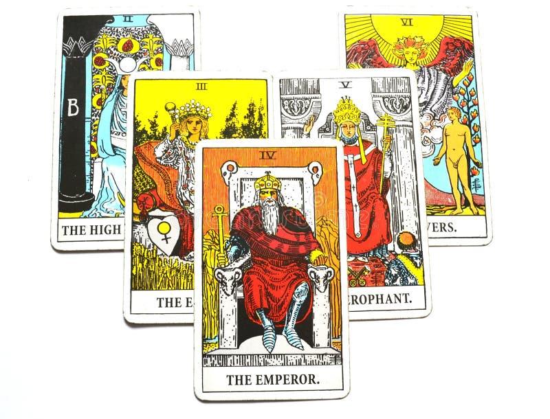 Ο προϊστάμενος βασιλιάδων κυβερνητών ηγετών δύναμης καρτών Tarot αυτοκρατόρων απεικόνιση αποθεμάτων