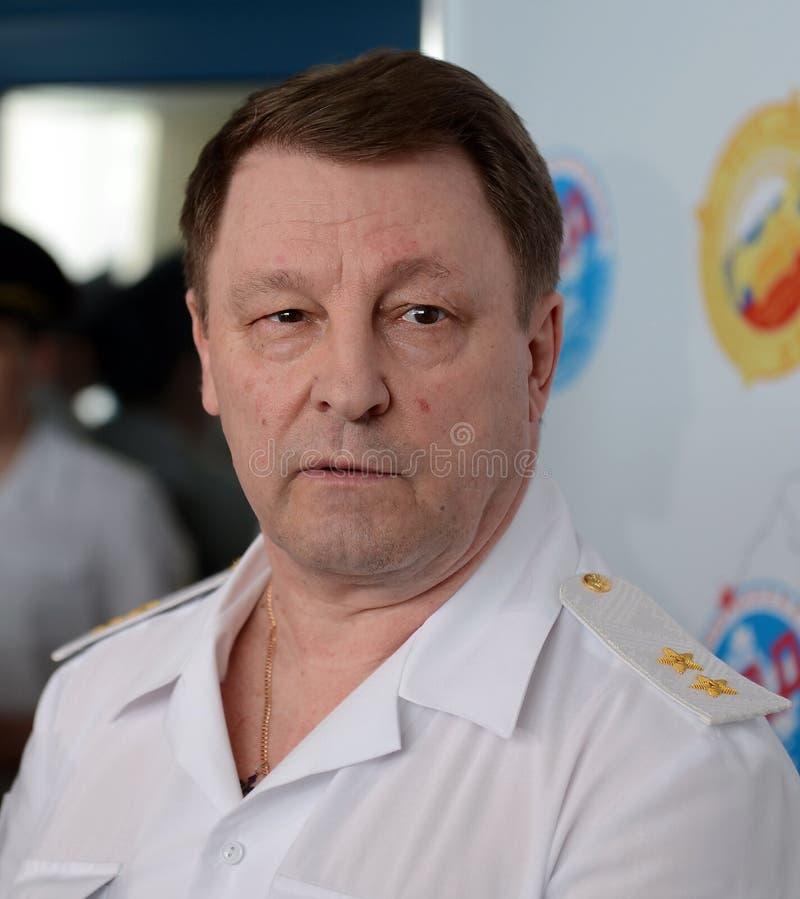 Ο προϊστάμενος της ασφάλειας της κυκλοφορίας του Υπουργείου εσωτερικών θεμάτων της Ρωσίας ο γενικός-υπολοχαγός της αστυνομίας Vic στοκ εικόνα με δικαίωμα ελεύθερης χρήσης