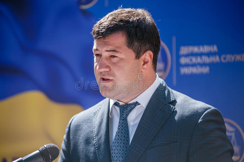 Ο προϊστάμενος της κρατικής φορολογικής υπηρεσίας της Ουκρανίας στοκ φωτογραφία