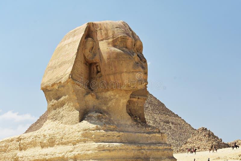 Ο προϊστάμενος του μεγάλου Sphinx Giza, Κάιρο, Αίγυπτος στοκ φωτογραφία με δικαίωμα ελεύθερης χρήσης