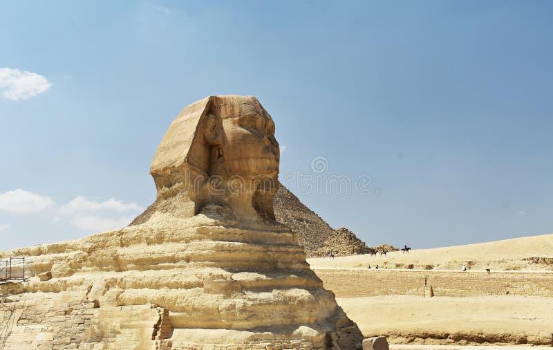 Ο προϊστάμενος του μεγάλου Sphinx Giza, Κάιρο, Αίγυπτος στοκ εικόνα