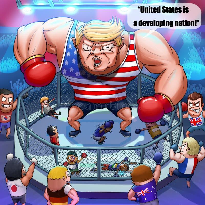 Ο Πρόεδρος Trump παρομοιάζω τις Ηνωμένες Πολιτείες με μια αναπτυσσόμενη χώρα ελεύθερη απεικόνιση δικαιώματος