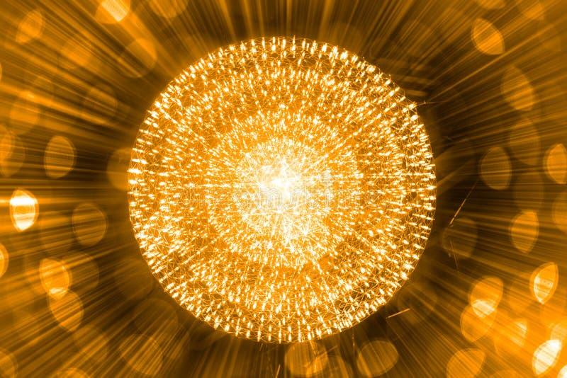 Ο πυρήνας του ατόμου πυρηνικός εκρήγνυται την ακτινοβολία ακτίνων διανυσματική απεικόνιση