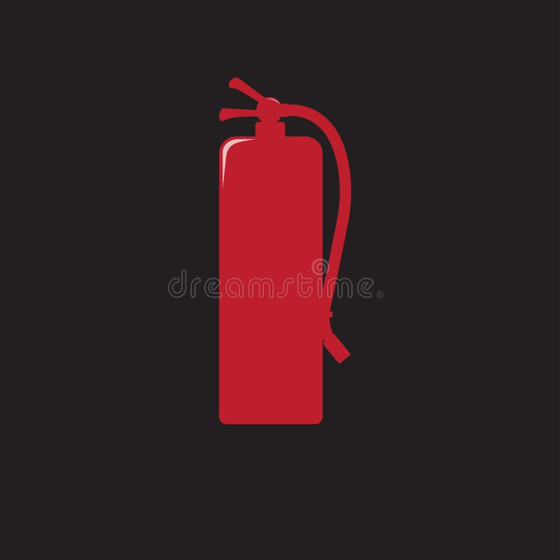 Ο πυροσβεστήρας υπογράφει την κόκκινη διανυσματική απεικόνιση εικονιδίων ελεύθερη απεικόνιση δικαιώματος