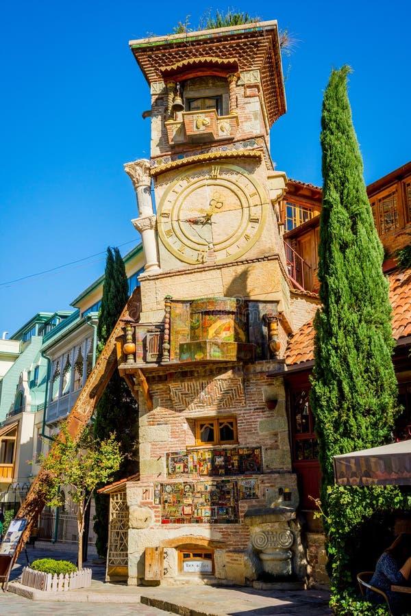 Ο πύργος ρολογιών, Tbilisi στοκ φωτογραφία με δικαίωμα ελεύθερης χρήσης