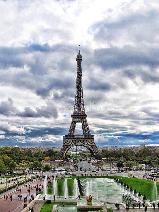 Ο πύργος του Άιφελ στο Παρίσι, Γαλλία, HDR στοκ εικόνες