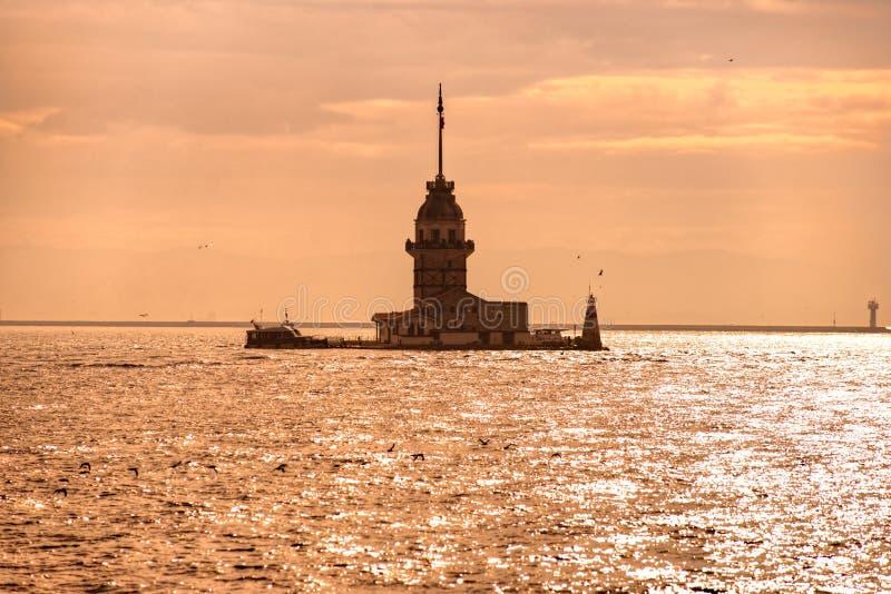 Ο πύργος του κοριτσιού στην Κωνσταντινούπολη στοκ φωτογραφίες