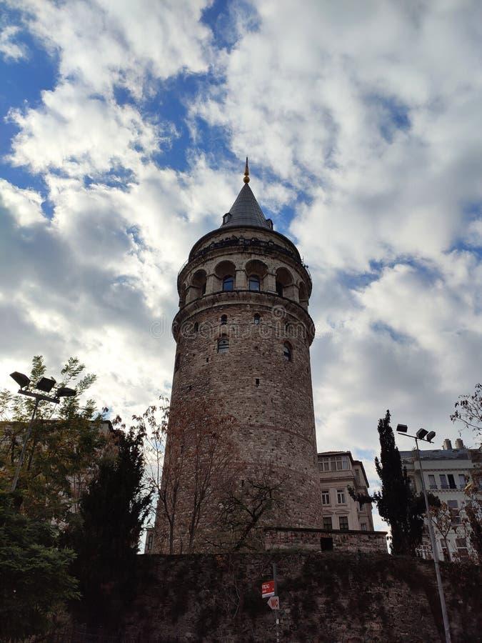 Ο Πύργος των Γαλάτων Γαλάτα Κουλέσι στοκ εικόνα με δικαίωμα ελεύθερης χρήσης