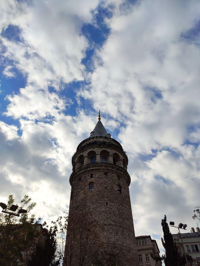 Ο Πύργος των Γαλάτων Γαλάτα Κουλέσι στοκ φωτογραφίες με δικαίωμα ελεύθερης χρήσης