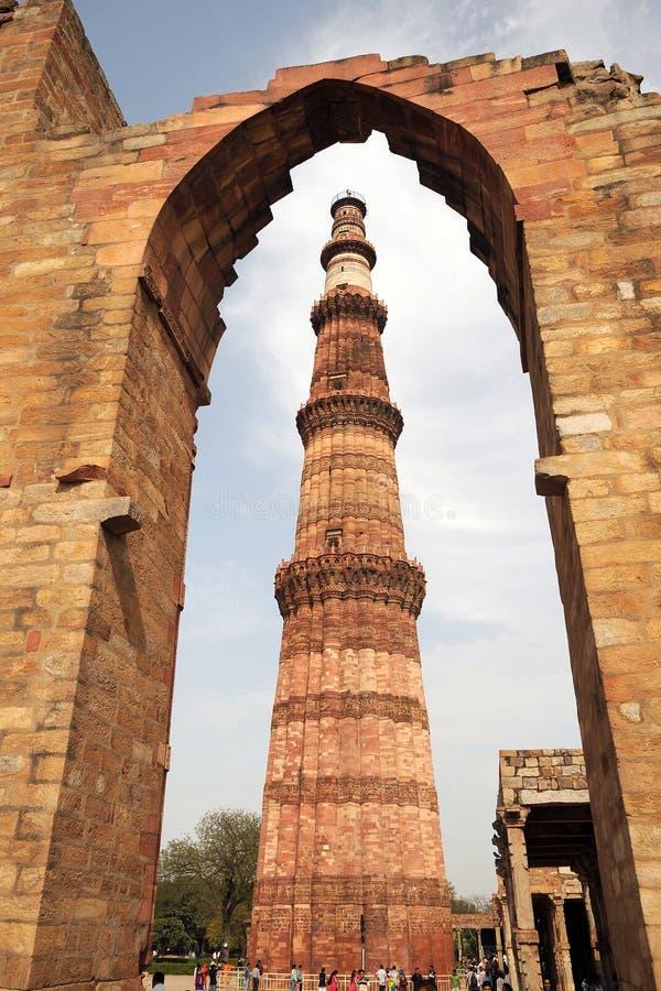 Ο πύργος Qutb Minar Ινδία στοκ εικόνες