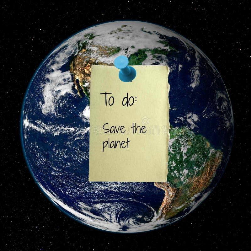 ο πλανήτης σώζει στοκ εικόνα