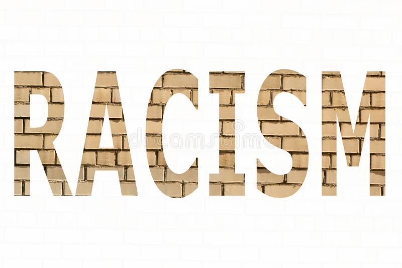Ο ρατσισμός λέξης στοκ φωτογραφία
