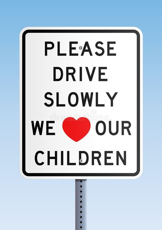 ο ρυθμιστής παιδιών αγαπά το μας παρακαλώ αργά διανυσματική απεικόνιση