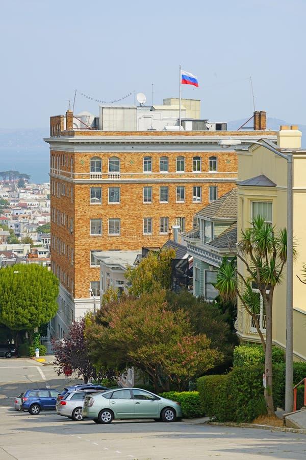 Ο ρωσικός γενικός πρόξενος στο Σαν Φρανσίσκο, ΗΠΑ στοκ εικόνα