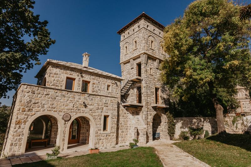 15ο σερβικό ορθόδοξο μοναστήρι Tvrdos, Trebinje, Βοσνία-Ερζεγοβίνη στοκ φωτογραφία με δικαίωμα ελεύθερης χρήσης