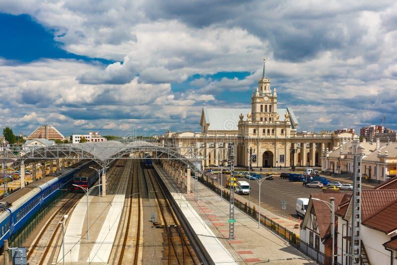 Ο σιδηροδρομικός σταθμός Brest στοκ εικόνες
