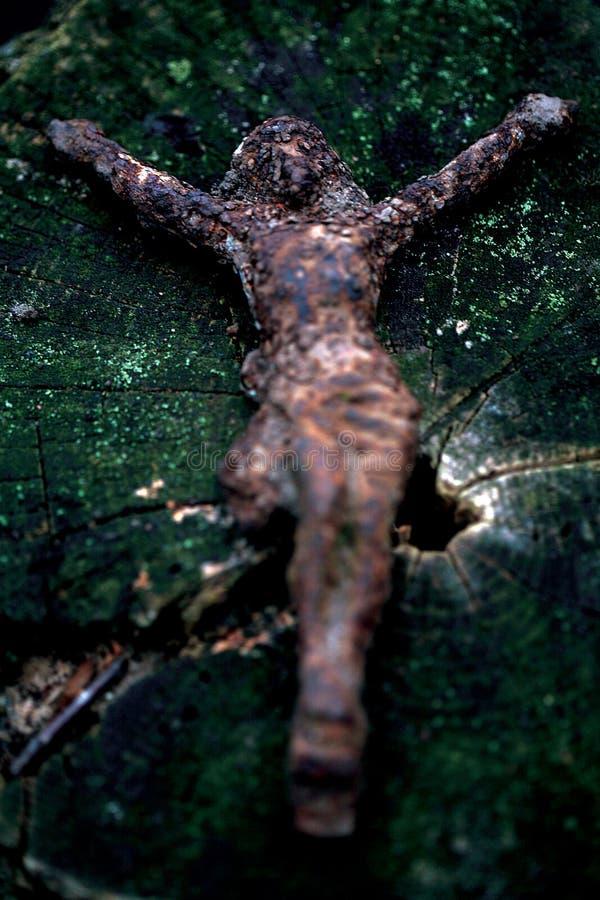 Ο σκουριασμένος Ιησούς Χριστός στοκ φωτογραφία με δικαίωμα ελεύθερης χρήσης