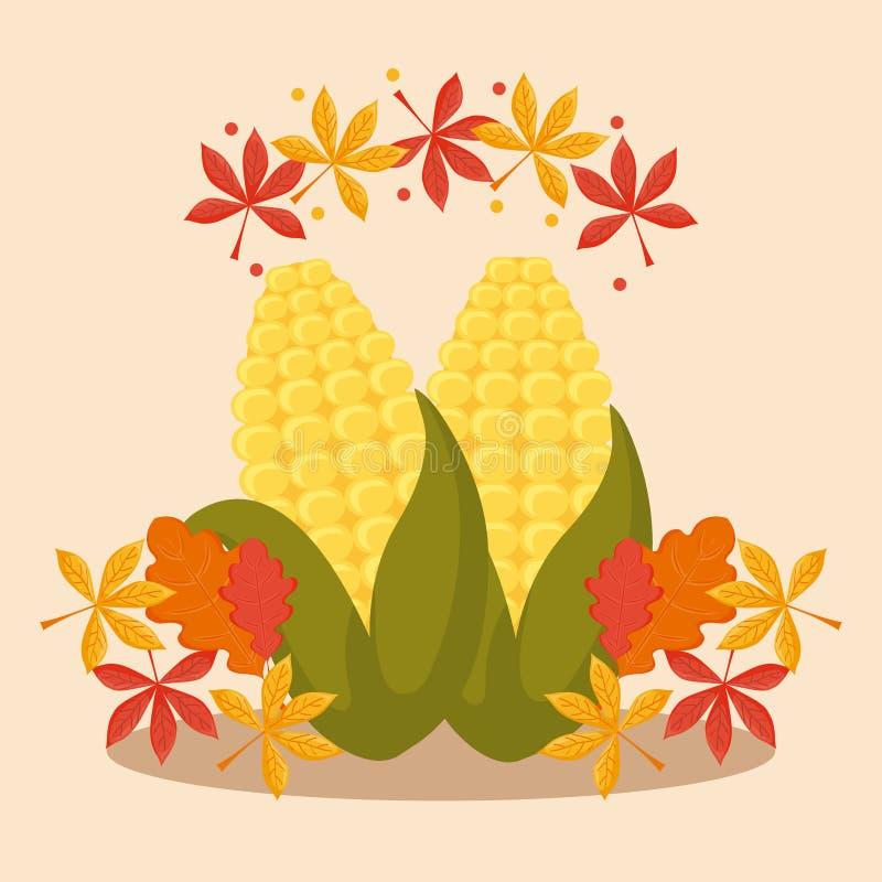 Ο σπάδικας με βγάζει φύλλα για την ημέρα των ευχαριστιών ελεύθερη απεικόνιση δικαιώματος