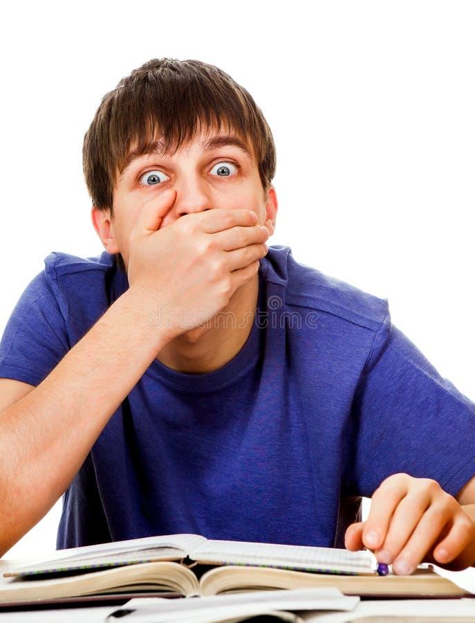 Ο σπουδαστής κλείνει το στόμα στοκ εικόνες