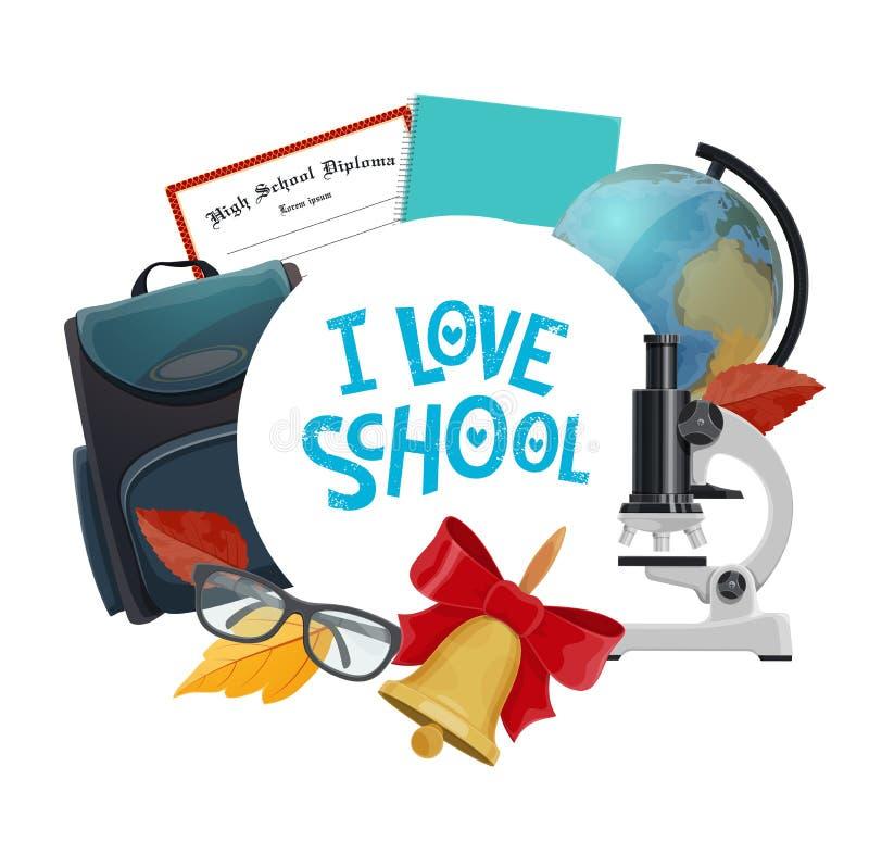 Ο σπουδαστής παρέχει το εικονίδιο το σχολικό σημειωματάριο, σφαίρα απεικόνιση αποθεμάτων