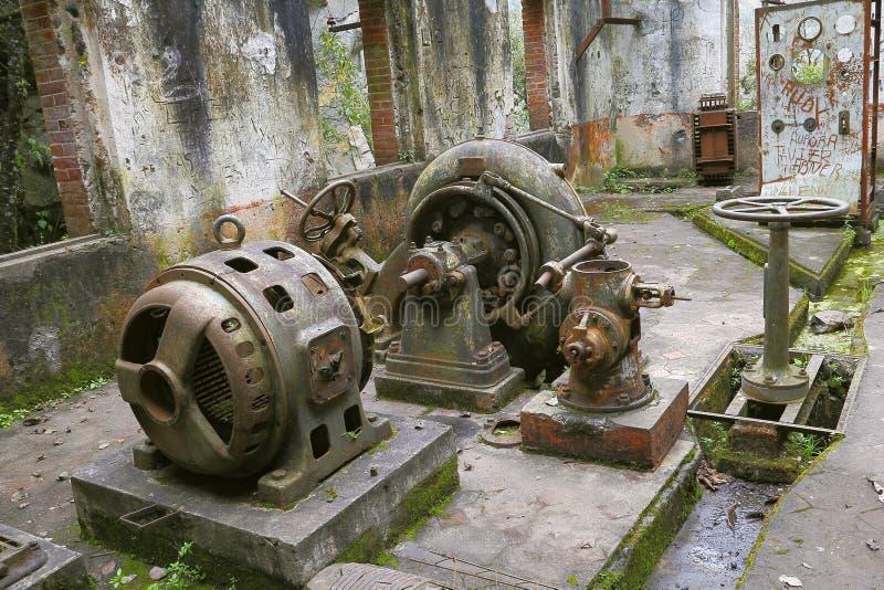 Ο σταθμός παραγωγής ηλεκτρικού ρεύματος καταστρέφει ΙΙ στοκ εικόνα
