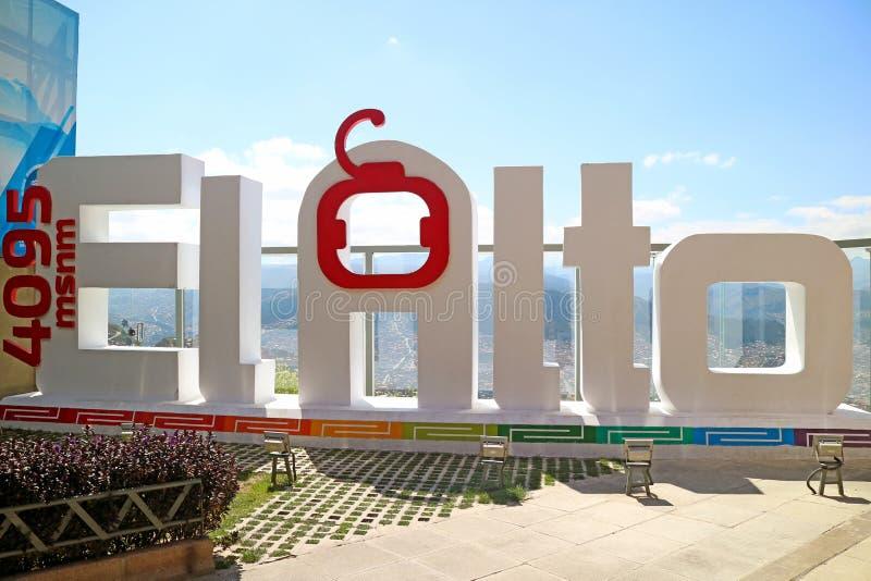 Ο σταθμός τελεφερίκ EL Alto Mi Teleferico είναι σε 4095 μέτρο επάνω από τη θάλασσα - επίπεδο, Λα Παζ, Βολιβία στοκ φωτογραφίες με δικαίωμα ελεύθερης χρήσης