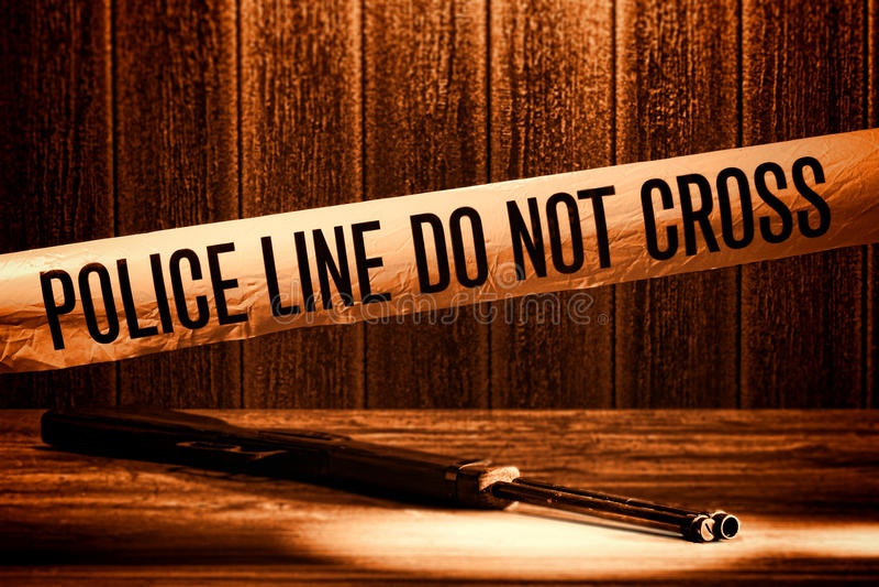 ο σταυρός εγκλήματος ευθυγραμμίζει την ταινία σκηνής αστυνομίας δολοφονίας όχι