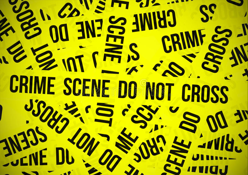 ο σταυρός εγκλήματος όχ&iota απεικόνιση αποθεμάτων