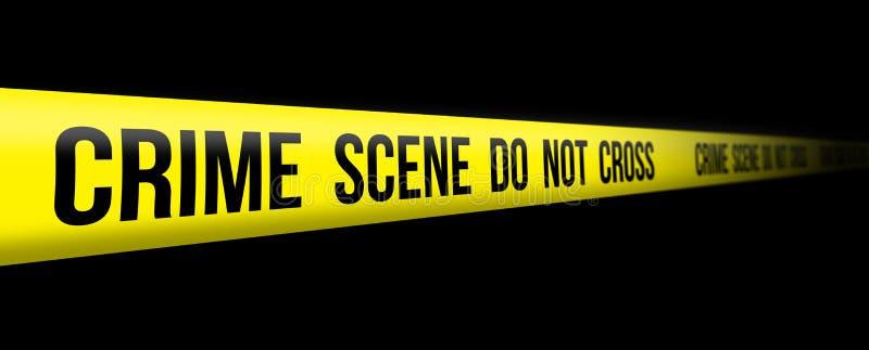 ο σταυρός εγκλήματος όχ&iota διανυσματική απεικόνιση