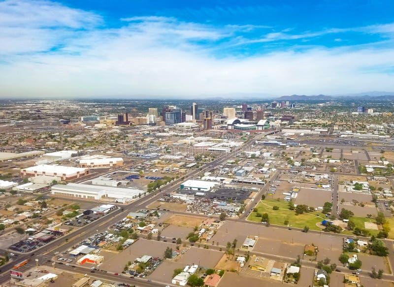 Ο στο κέντρο της πόλης Phoenix, Αριζόνα στοκ εικόνες