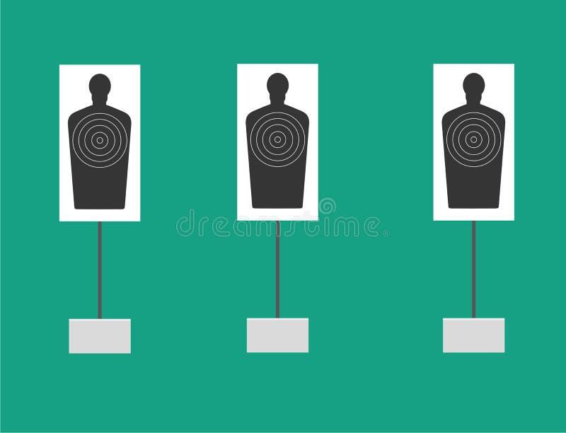 Ο στόχος Διανυσματική απεικόνιση επίπεδος-ύφους απεικόνιση αποθεμάτων