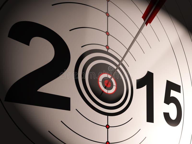 2015 ο στόχος προβολής παρουσιάζει επιτυχές μέλλον διανυσματική απεικόνιση