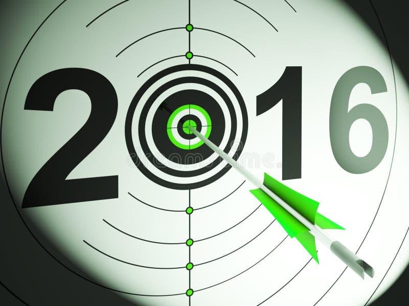 2016 ο στόχος προβολής παρουσιάζει το κέρδος και αύξηση διανυσματική απεικόνιση