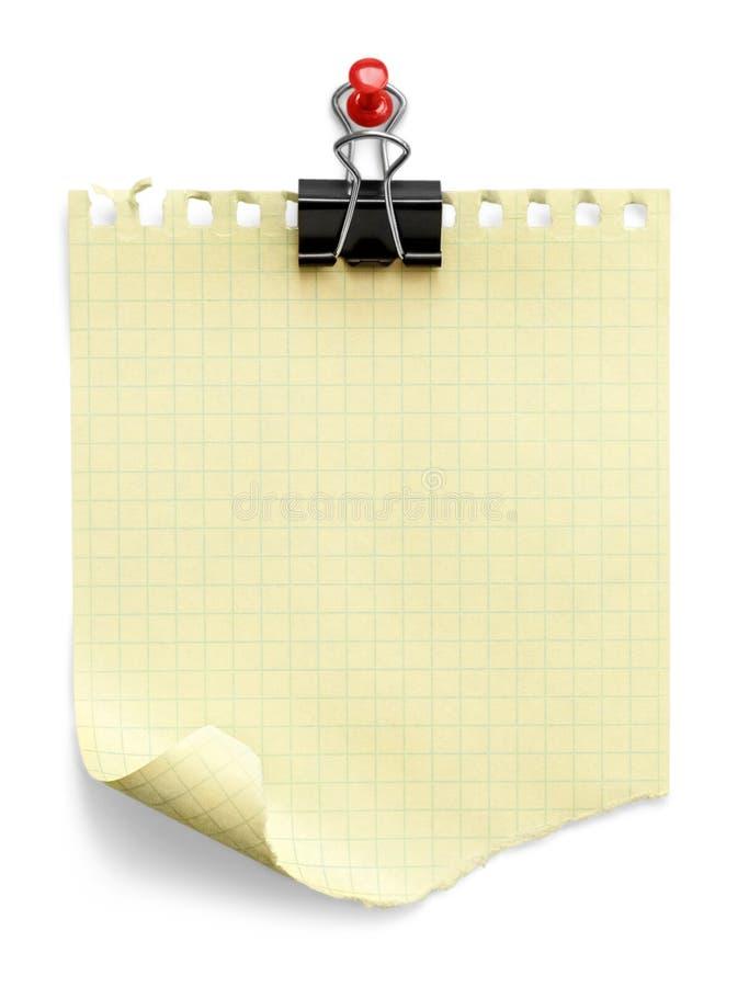 ο συνδετήρας ανασκόπησης απομόνωσε το λευκό σκιών εγγράφου σημειώσεων η σκούπα απομόνωσε το λε&u στοκ φωτογραφία με δικαίωμα ελεύθερης χρήσης