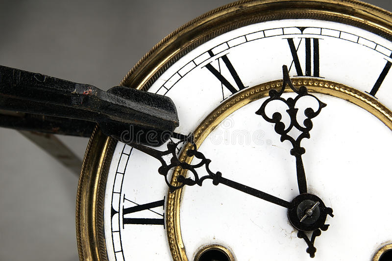 Ο σφιγκτήρας ξυλουργών σταματά το ρολόι στοκ φωτογραφίες με δικαίωμα ελεύθερης χρήσης
