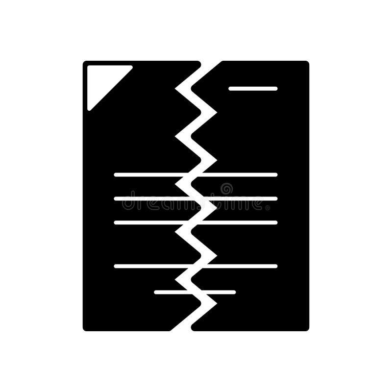 Ο σχισμένος Μαύρος εγγράφων απεικόνιση αποθεμάτων