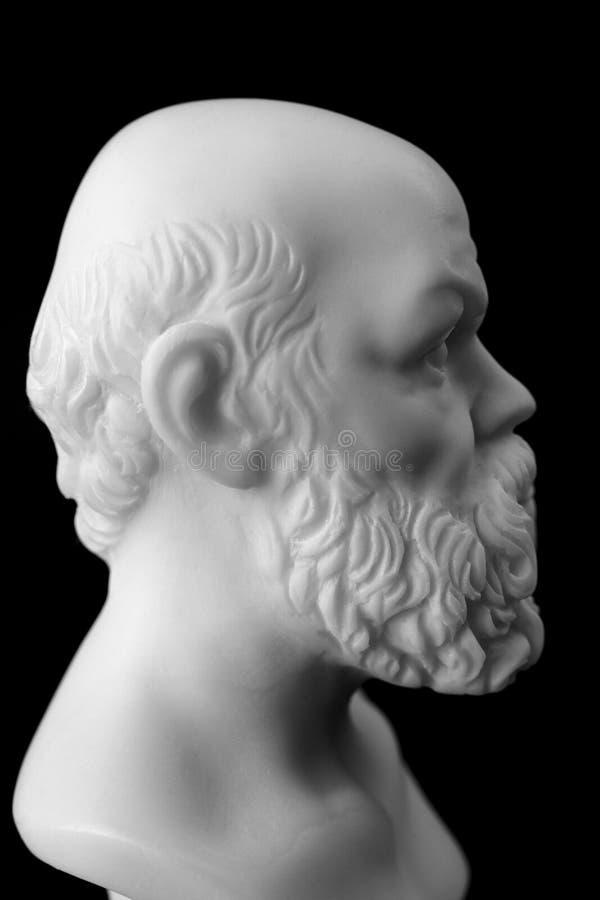 Ο Σωκράτης έζησε στην Αθήνα (470 Π.Χ. - 399 Π.Χ.) ήταν ελληνικός αθηναίος στοκ φωτογραφία