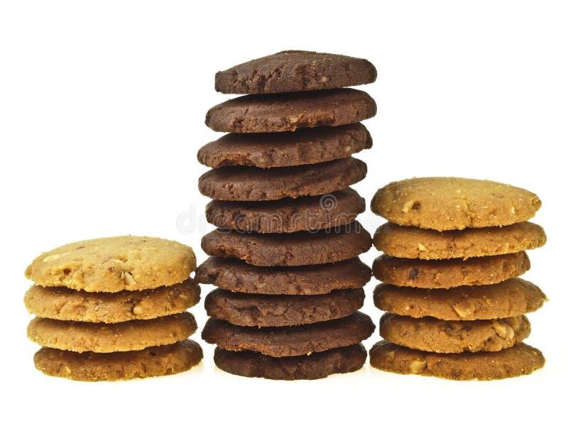 Ο σωρός μπισκότων συγκρίνει στοκ εικόνες με δικαίωμα ελεύθερης χρήσης