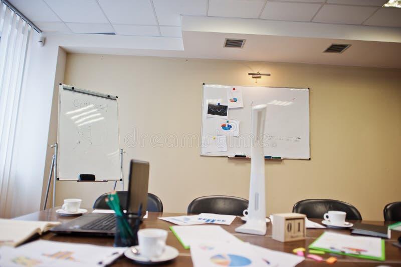 Ο σύγχρονος δημιουργικός εργασιακός χώρος με το lap-top, την ταμπλέτα, τον εξοπλισμό και τον πίνακα οδήγησε το λαμπτήρα Έννοια σχ στοκ φωτογραφία με δικαίωμα ελεύθερης χρήσης