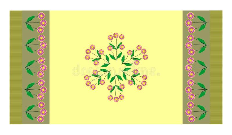 ο τάπητας άκμασε κίτρινο στοκ εικόνα