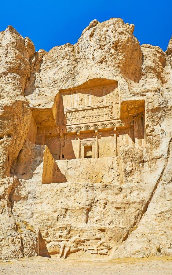 Ο τάφος στο βράχο, αρχαιολογική περιοχή naqsh-ε Rustam, Ιράν στοκ φωτογραφίες με δικαίωμα ελεύθερης χρήσης